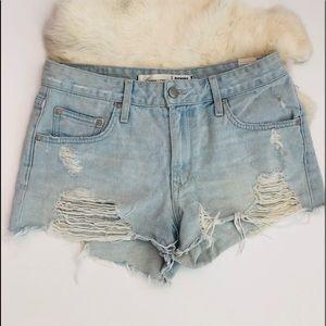 LOVERS + FRIENDS Jean Cut Off Shorts